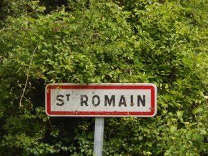 Pancarte Saint-Romain - Le Clan des Sens